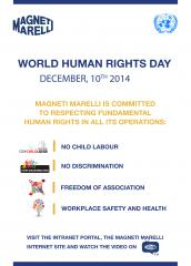 World Human Rights Day: Magneti Marelli joins in the celebrations