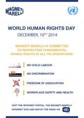 Dia Mundial dos Direitos Humanos: Magneti Marelli une-se às celebrações